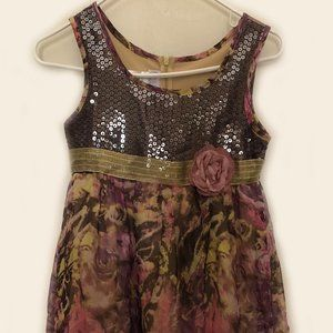 Iris & Ivy Girls Sleeveless Sequin Top Dress Sz 12